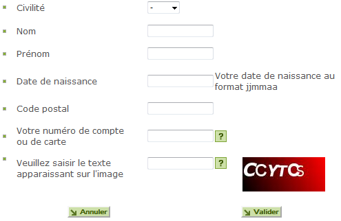 Code confidentiel oublié Franfinance
