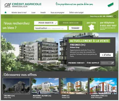 Site CA Immobilier