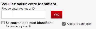 Connectez vous à votre compte HSBC