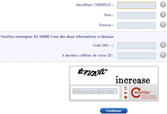 Réinitialisation de votre mot de passe de la Banque Populaire Val de France